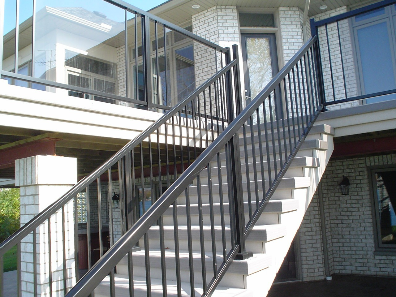 Craft bilt materials aluminium deck railings kitchener
